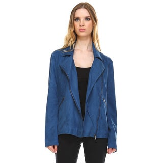 Women's Urania Suede Motorcycle Jacket