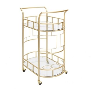 Sinclair Gold 2-tier Serving Cart by Silverwood