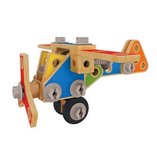 Hape Early Explorer Master Builder Multicolor Wooden Play Set