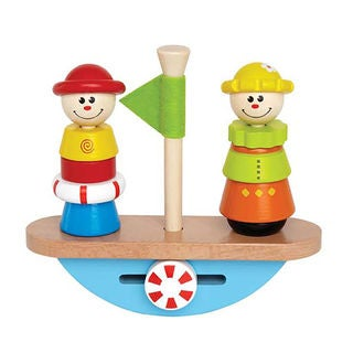Hape Early Explorer Balance Boat Wooden Stacking Toy