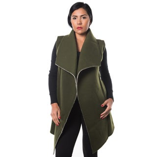 Special One Women's Faux Fur-lined Open-front Trench Coat Cardigan (More options available)