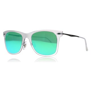 Ray Ban Men's RB4210 Clear Plastic Square Sunglasses