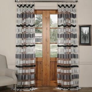Exclusive Fabrics Organza Horizontal Stripe Sheer Curtain