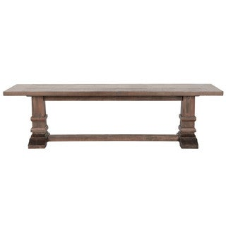 Gray Manor Harlan Rustic Java Veneer and Acacia Large Dining Bench