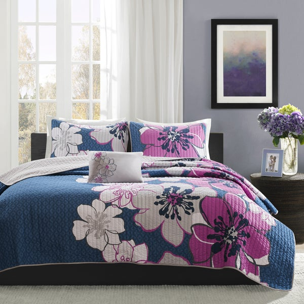 Mi Zone Mackenzie Printed 4-piece Coverlet Set