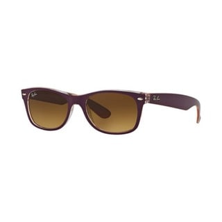 Ray Ban Mens RB2132F New Wayfarer 619285 Purple Brown Gradient Plastic Sunglasses