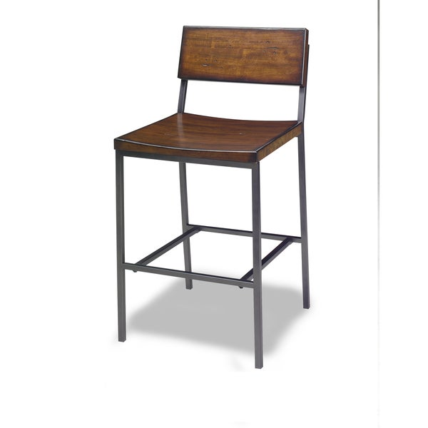 Progressive Sawyer Brown Wood/Metal Counter Stool