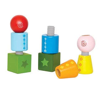 Hape Twist and Turnables Wooden Building Block Set|https://ak1.ostkcdn.com/images/products/14031682/P20649986.jpg?impolicy=medium