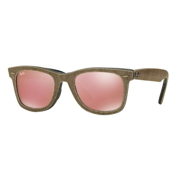 b2feec187a Ray Ban Mens RB2140 1193Z2 Brown Frame Green Lens Wayfarer Sunglasses -  Free Shipping Today - Overstock - 20650011
