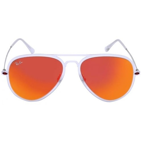 f32d256c8d4 Shop Ray Ban Men s RB4211 Silver Frame Orange Lens Square Sunglasses - Free  Shipping Today - Overstock - 14031719