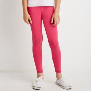 Riviera Kids' Pink Fleece Leggings