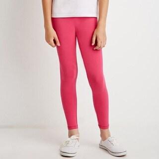 Riviera Kids' Pink Fleece Leggings (Set of 2)