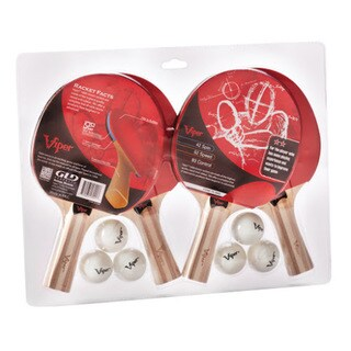 Viper Wood 4-racket Table Tennis Set
