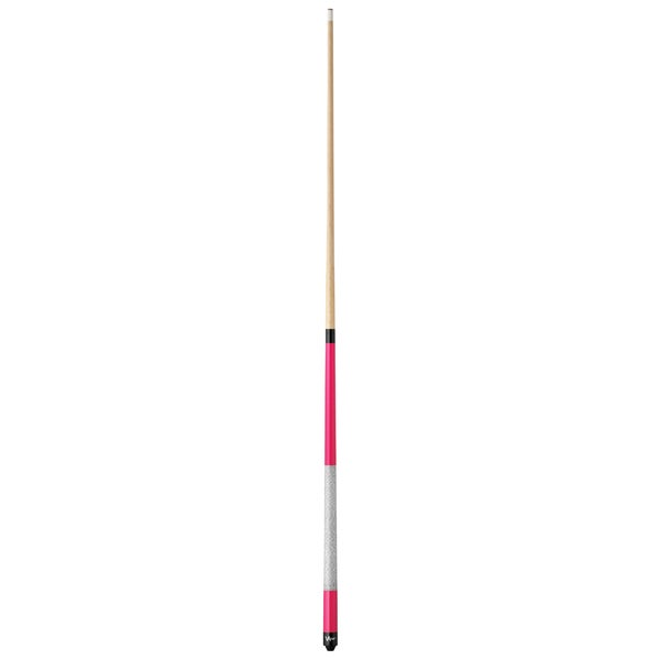 Viper Hot Pink Wood and Faux-leather-wrapped Billiard Cue