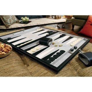 Mainstreet Classics Wood 18-inch Classic Backgammon Set