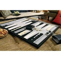 Mainstreet Classics Wood 18-inch Classic Backgammon Set
