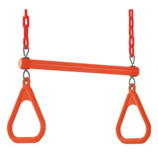 Swingan Orange Trapeze Swing Bar with Fully Assembled Vinyl Coated Chain