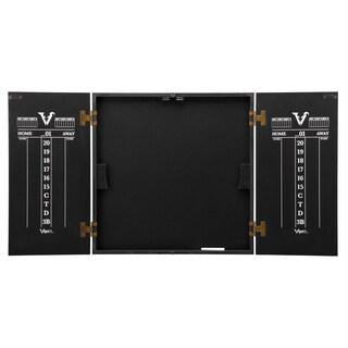 Viper Hideaway Black Wood Reversible Traditional/ Baseball Dartboard Cabinet