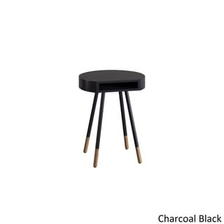 Marcella Paint-dipped Round End Table by MID-CENTURY LIVING