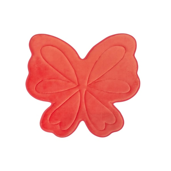 Bounce Comfort Memory Foam Butterfly 30 x 30 in. Bath Mat