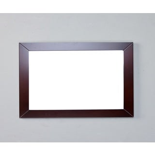Eviva New York Teak Framed Bathroom Vanity Mirror