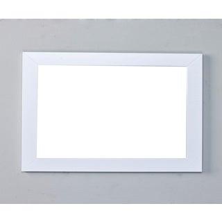 Eviva New York White Framed Bathroom Vanity Mirror