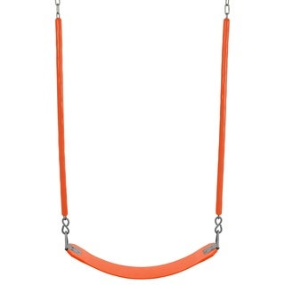 Swingan Orange Belt Swing with Fully Assembled Soft Grip Chain for All Ages