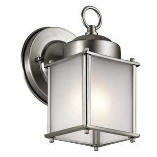 Kichler Lighting Traditional 1-light Stainless Steel Outdoor Wall Lantern|https://ak1.ostkcdn.com/images/products/14032063/P20650290.jpg?impolicy=medium