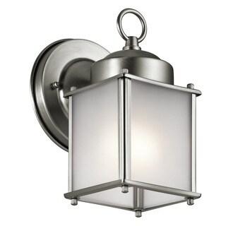 Kichler Lighting Traditional 1-light Stainless Steel Outdoor Wall Lantern
