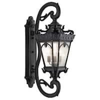 Kichler Lighting Tournai Collection 4-light Textured Black Outdoor Wall Lantern