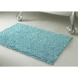 Resort Collection Plush Shag Chenille Bath Mat (17 inches x 24 inches)