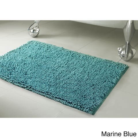 Resort Collection Plush Shag Chenille Bath Mat (17 inches x 24 inches)