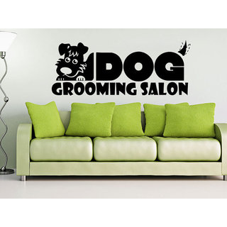 Dog Wall Decals Grooming Salon Decal Vinyl Sticker Pet Shop Animals Sticker Decal size 33x52 Color B