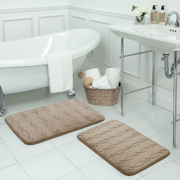 Grecian Memory Foam Bath Mat with BounceComfort Technology (17 inches x 24 inches)