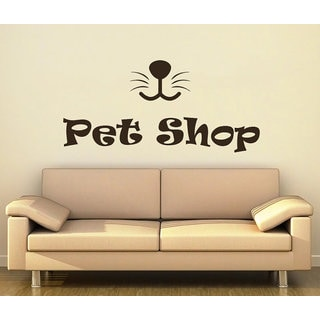 Petshop Grooming Salon Dog Animals Home Decor Sticker Decal size 22x35 Color Brown