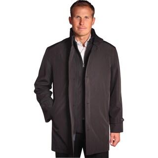 Jean Paul Germain Men's 'Java' Black Convertible Microfiber 3XL Size Jacket (As Is Item)