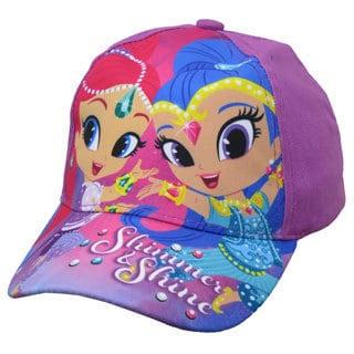 Nickelodeon Shimmer and Shine Toddler Girls Purple Cotton Baseball Cap