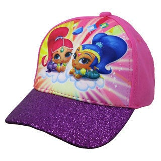 Nickelodeon Girls' Shimmer and Shine Size 4 to 14 3-D Pop Baseball Cap