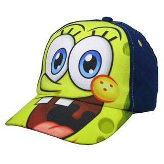 Nickelodeon Toddler Boys' Spongebob SquarePants Navy Cotton Baseball Cap