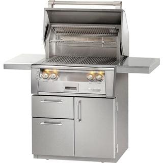 "Alfresco 30"" ALXE SearZone Grill on Deluxe Cart With Rotisserie"