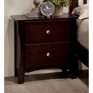 cherry wood nightstand. Furniture Of America Raylee Modern Brown Cherry Curved 2-drawer Nightstand Wood I