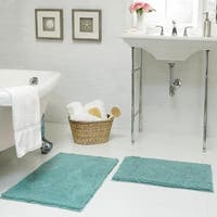 Resort Collection Plush Shag Chenille 17 x 24 in. and 21 x 34 in. 2-Piece Bath Mat Set