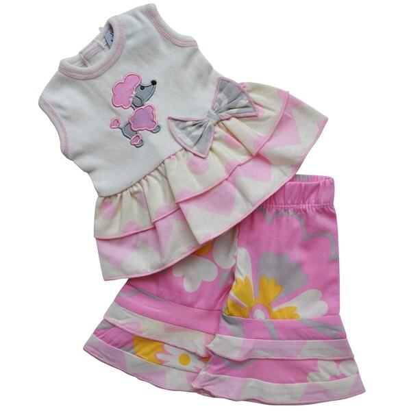 AnnLoren Boutique Poodle Cotton Tunic and Capri Doll Outfit