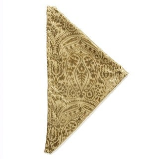 Grazia Velvet Rayon Burnout Dinner Napkin (Set of 4)