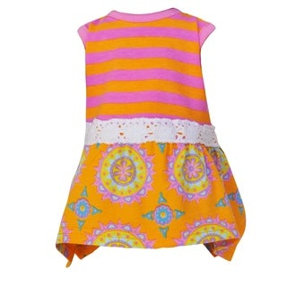 AnnLoren Stylish Sherbert Hanky Maxi Dress Doll Outfit for 18-inch Dolls