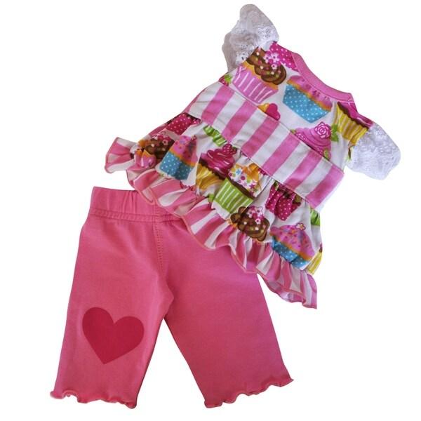AnnLoren Original Cupcake Dress and Legging Capri Doll Outfit Fits 18-inch Dolls