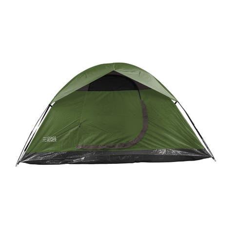 Osage River Glades Green Nylon and Fiberglass 4-person Tent