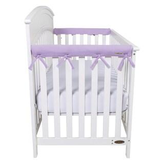 Trend Lab CribWrap Narrow Short Lavender Fleece Rail Covers (Set of 2)