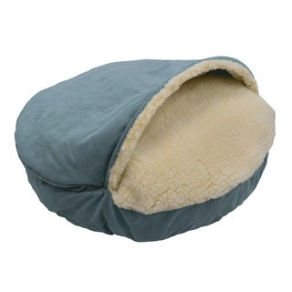 Snoozer Cozy Cave Solid Micro-suede and Sherpa Luxury Pet Bed