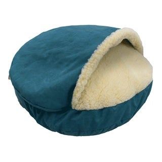Snoozer Cozy Cave Solid Orthopedic Luxury Micro Suede Pet Bed